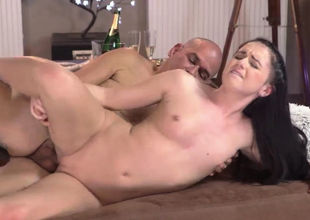 Super-fucking-hot dad drill and sloppy..