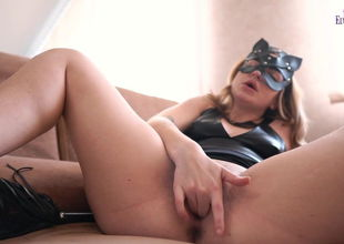Lewd BDSM-Cat Whipping and Hard-core..