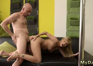 Wifey smashes nubile damsel and..