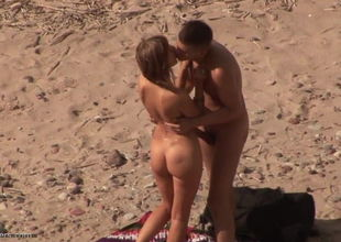 Teenager duo beach hook-up 3 (Rough sex)