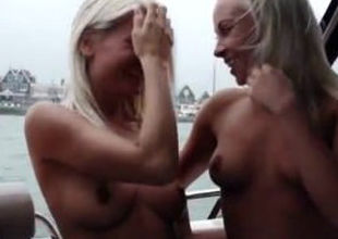 Lesbian stepmom and daughter caught..