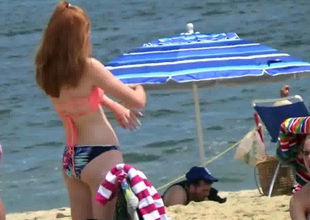 Ginger Swimsuit Not Teenager Applying..